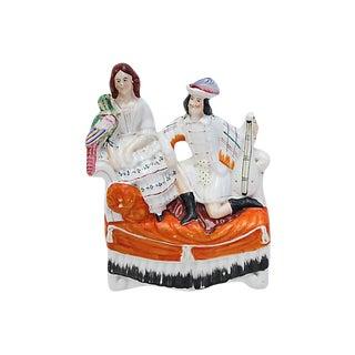 Antique Staffordshire Musicians Figure For Sale
