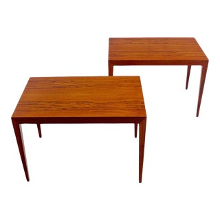Danish Modern End Tables Designed by Severin Hansen - A Pair For Sale