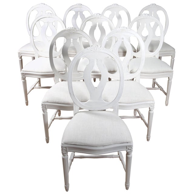 1900s Vintage Swedish Gustavian Style Dining Chair (16 Available) For Sale - Image 10 of 10