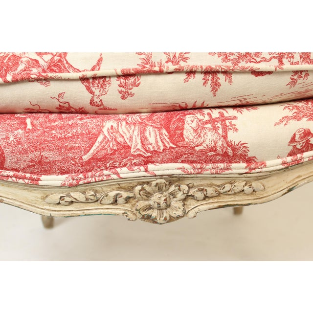1930s Louis XV Provincial Painted Armchair For Sale - Image 12 of 13
