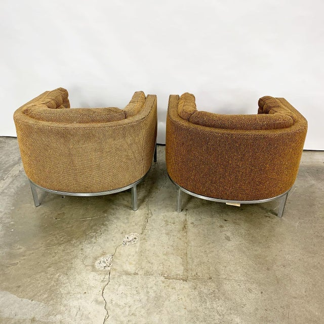 Pair of Modern Club Chairs Designed by Jules Heumann For Sale - Image 9 of 11