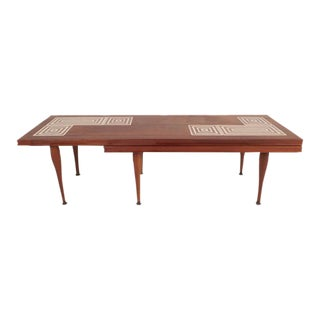 Mid-Century Modern Tile-Tip Pivot Coffee Table For Sale