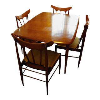 Handcrafted American Ash Dining Set - Set of 5 For Sale