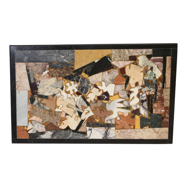 Contemporary Inlaid Marble Piece For Sale