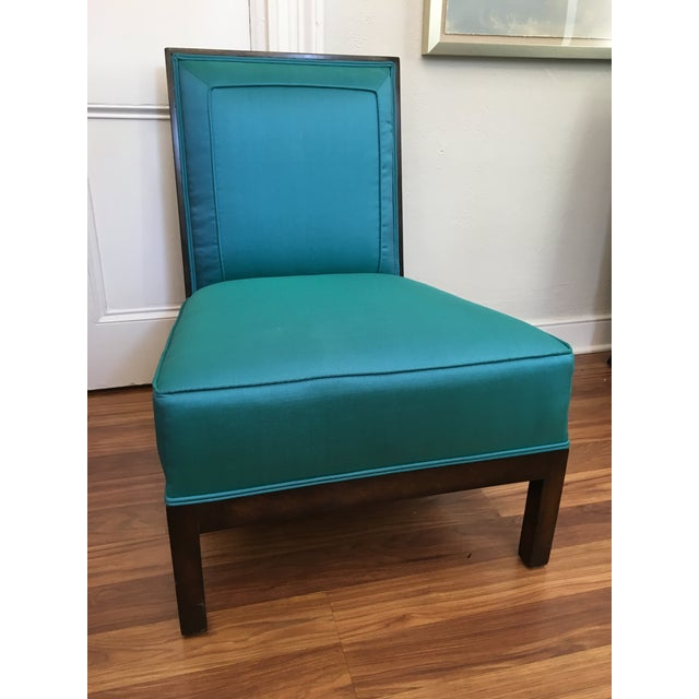 Turquoise Vintage Italian Club Chairs - A Pair For Sale - Image 8 of 10