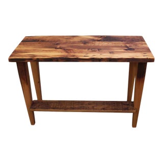 Customizable Narrow Reclaimed Pine Desk