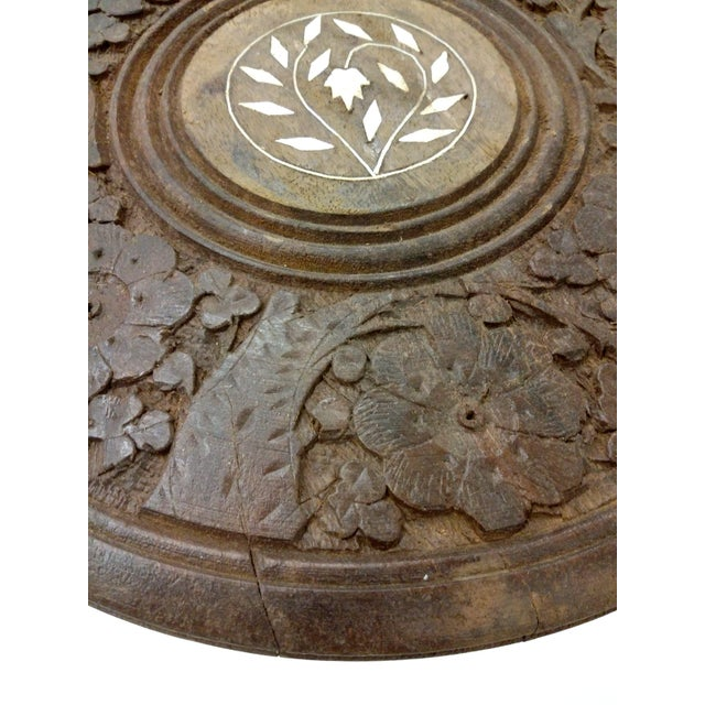 Wood Hand-Carved Indian Sandalwood Display Table For Sale - Image 7 of 11