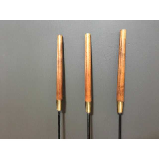 Mid-Century Modern Mid-Century Seymour Manufacturing Fireplace Tool Set For Sale - Image 3 of 10