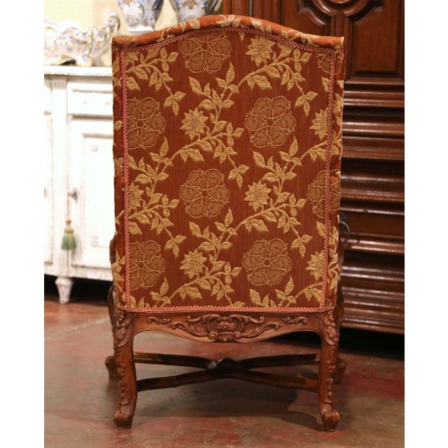 19th Century Louis XV Carved Walnut Armchairs From Provence - a Pair For Sale - Image 12 of 13