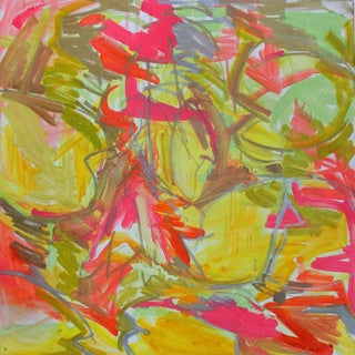"""""""Lotus Pond"""" by Trixie Pitts Abstract Oil Painting For Sale"""