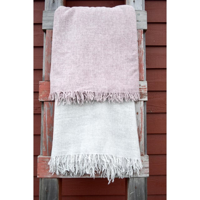 FirmaMenta Italian Mauve Pink Gauze Throw For Sale In San Francisco - Image 6 of 8