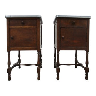 Stickley Brothers Nightstands or Side Tables -A Pair of Cabinets For Sale