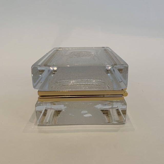 2010s 21st Century White Murano Crystal Jewel Box by Mandruzzato For Sale - Image 5 of 9