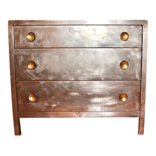 Pair of Vintage 3-Drawer Metal Chests For Sale