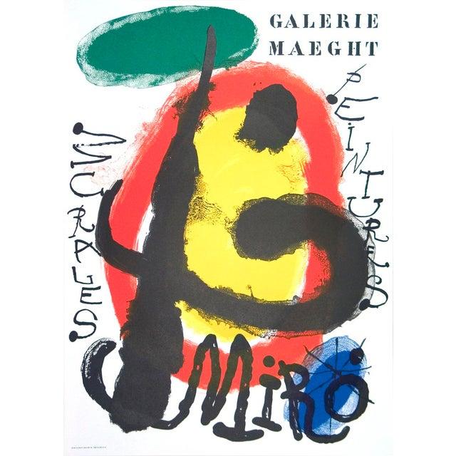 Surrealism Joan Miro, Peintures Murales, Lithograph, 1961 For Sale - Image 3 of 3