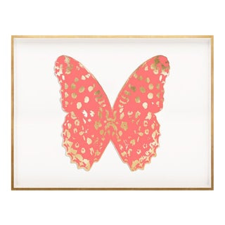 Butterfly Royale, Pink 1 Framed Artwork For Sale