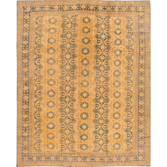 "Apadana - Vintage Afghan Rug, 13'1"" x 16'7"" For Sale"