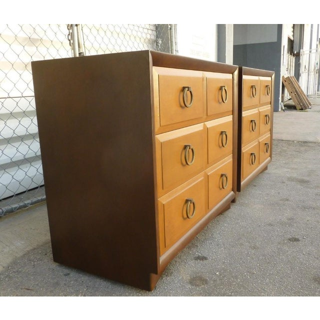 Mid-Century Modern 1950s Mid Century Modern Widdicomb t.h. Robsjohn Gibbings Matching Chest of Drawers - a Pair For Sale - Image 3 of 10