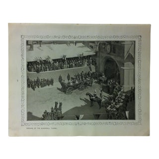 """1906 """"Opening of the Blackwall Tunnel"""" Famous View of London Print For Sale"""