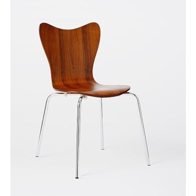 West Elm Scoop Back Chairs - A Pair - Image 3 of 6