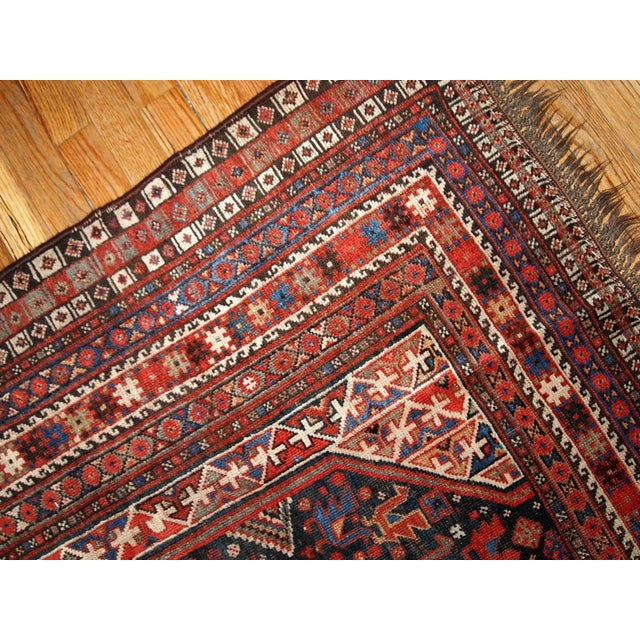 1880s Hand Made Antique Persian Khamseh Rug - 6' X 9' For Sale - Image 7 of 10