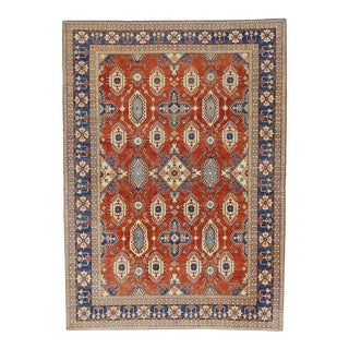 Vintage Persian Shiraz Afghani Rug With Modern Federal Style - 11'09 X 16'03 For Sale