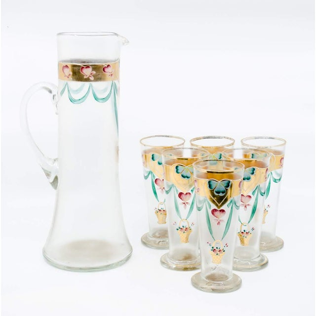 Traditional Early 20th C. Victorian Lemonade/Juice Glasses - Set of 7 For Sale - Image 3 of 13