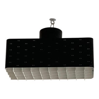 Paavo Tynell 9068 Light Black and White Flush Mount For Sale