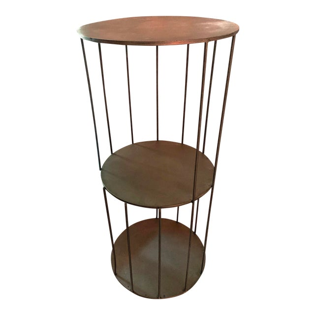 Kalalou Tall Metal Round Side Table For Sale