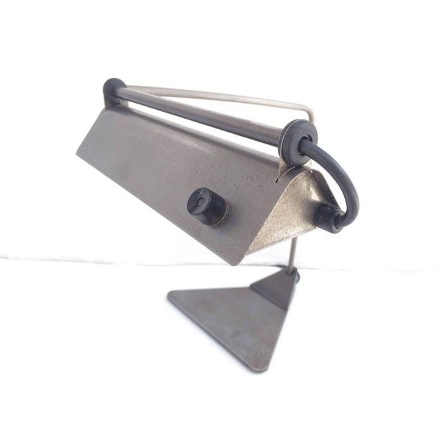 Ron Rezek Raw Steel Desk Lamp For Sale - Image 10 of 10