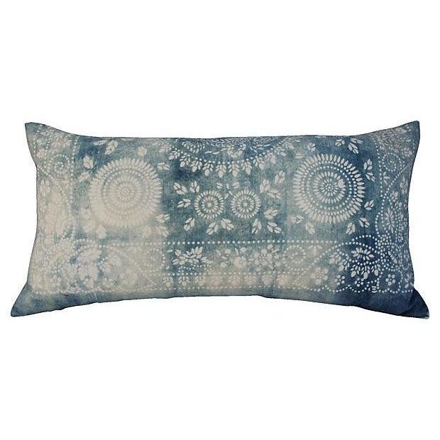 Faded Indigo Batik Body Pillow - Image 1 of 6