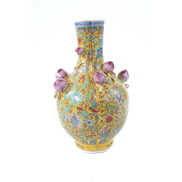 Chinese Famille Yellow & Pink Vases - A Pair - Image 6 of 9