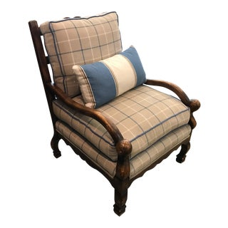 Vintage Ladder Back Bergere Chair