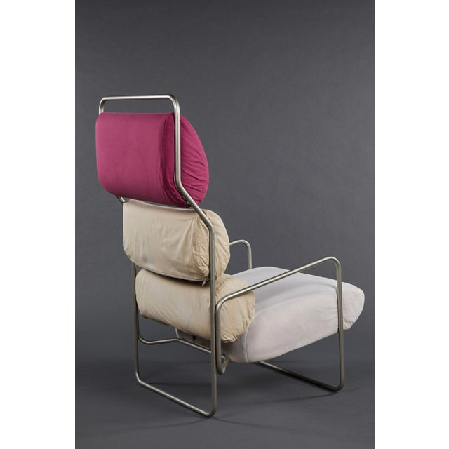 "Driade Pair of Achille Castiglioni ""Sancarlo"" Tubular Metal Chairs for Driade For Sale - Image 4 of 9"