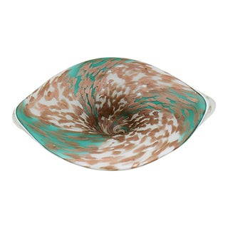 Mid-Century Murano Copper Flake Bowl For Sale