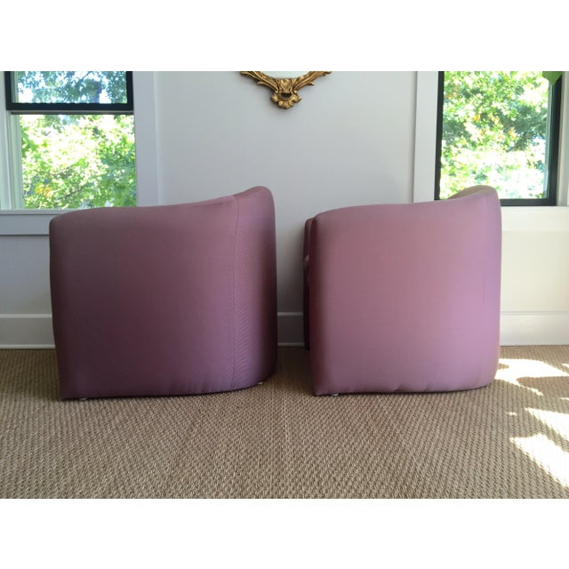 Carter Sculptural Mauve Lounge Chairs - A Pair - Image 3 of 7