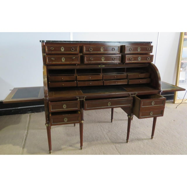 Early 20th Century Maison Jansen Directoire Style Cylinder Desk For Sale - Image 5 of 11