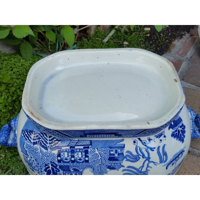 Antique English Victorian Blue & White Soup Tureen - Image 6 of 6