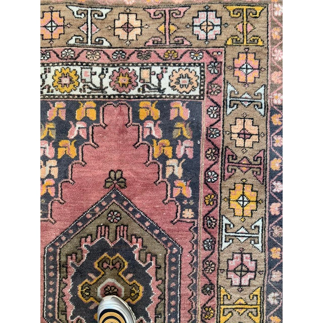 Vintage Persian Area Rug- 3′8″ × 8′3″ For Sale - Image 4 of 7