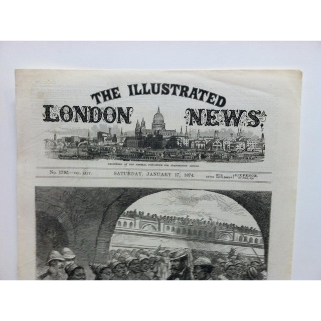 """This is an Antique Original Print from The Illustrated London News that is titled """"The Ashantee War: Paying The Fantee..."""