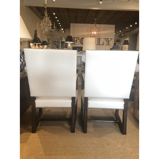 Stunning pair of Alfonso Marina chairs that look great next to a console or in a dining room.