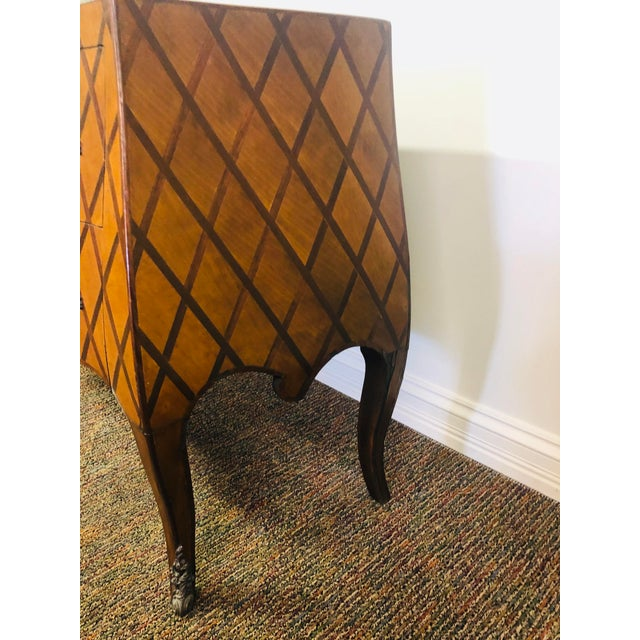 Wood Vintage Trouvailles Bombe Style Dresser For Sale - Image 7 of 11