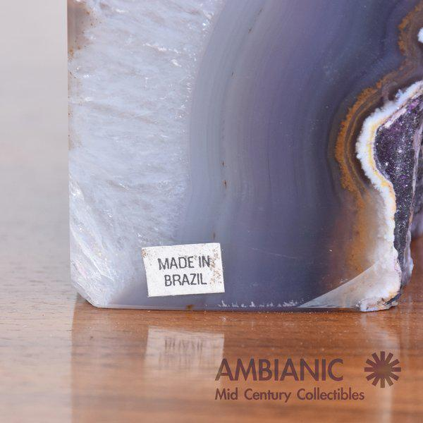 2000 - 2009 Pair of Amethyst Bookends Made in Brazil For Sale - Image 5 of 10
