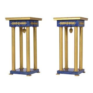 Pair of Bronze Empire Pedestals For Sale
