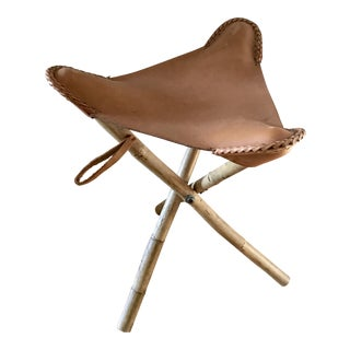 Tripod Leather Camping Stool