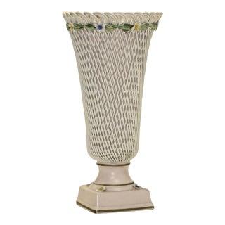 Late 20th Century Capo Di Monte Vase For Sale