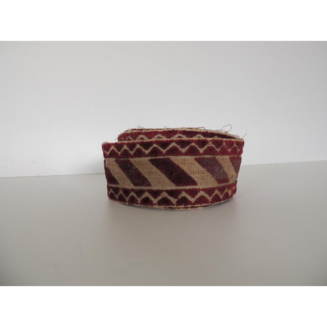 Italian Red and Gold Woven Antique Trim For Sale In Miami - Image 6 of 6