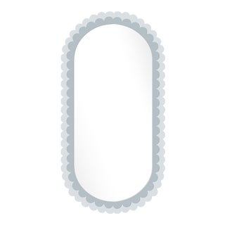 Fleur Home x Chairish Dauphine Mirror in Parma Gray, 42x84 For Sale