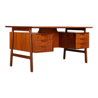 Teak Midcentury Desk by Gunni Omann for Omann Jun Møbelfabrik, 1950s For Sale