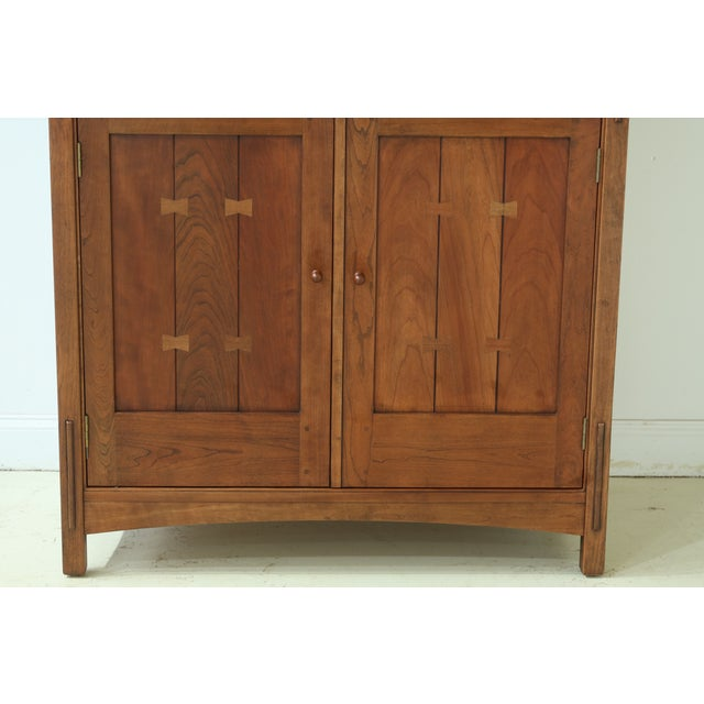 Item: 50192EC: STICKLEY Arts & Crafts Mission Cherry TV Armoire Age: C.1997 Details: Finish No. 11 Solid Cherry High...
